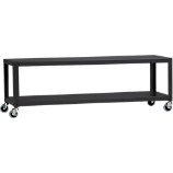 go-cart carbon grey rolling tv stand/coffee table