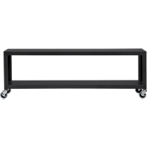 go-cart carbon grey two-shelf table-media cart