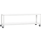 go-cart white rolling rolling tv stand/coffee table