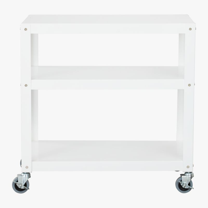 go-cart white three-shelf table
