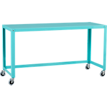 go-cart aqua console table