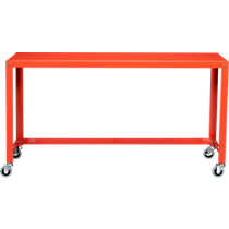 go-cart bright orange console table