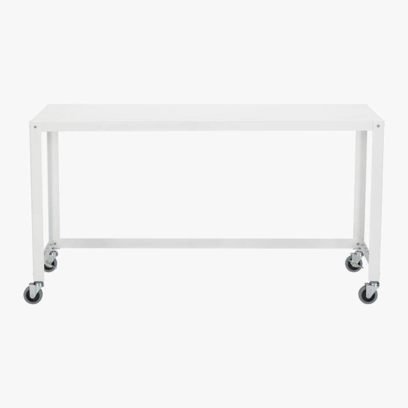 go-cart white console table