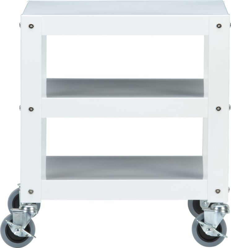 go-cart white rolling table