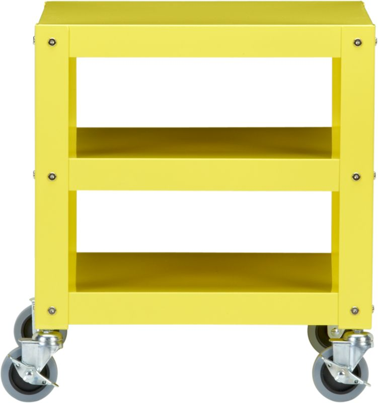 "go-cart yellow 18""x18"" rolling cart"