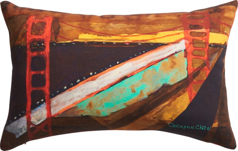 "golden gate bridge 18""x12"" pillow"