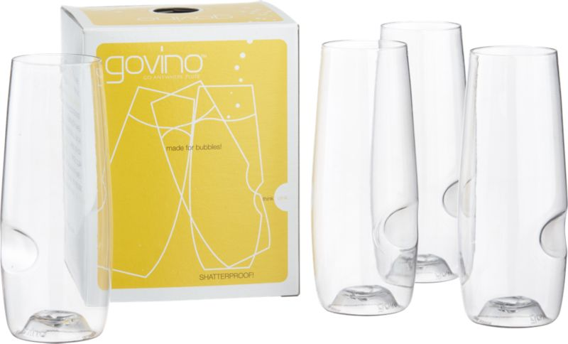 set of 4 govino stemless flutes