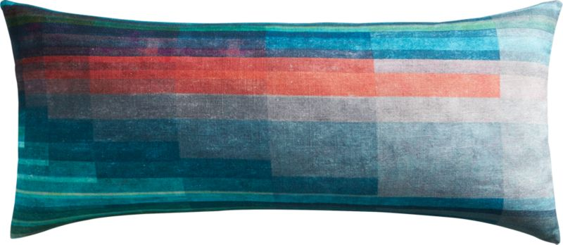 "gradient 36""x16"" pillow with feather-down insert"