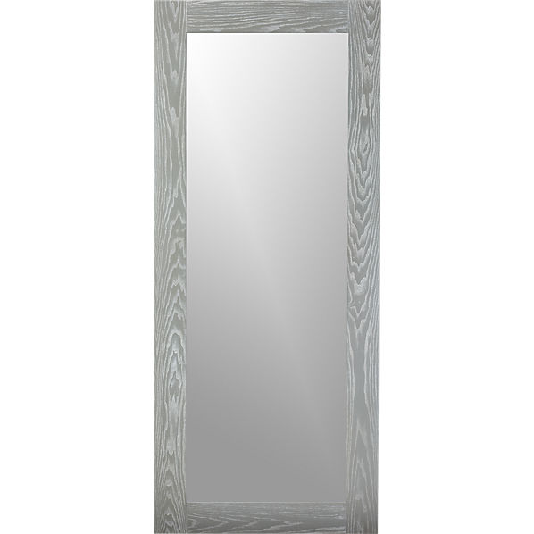 Hanging leaning grey 32 x76 floor mirror for Gray full length mirror