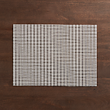 Chilewich ® grid white placemat