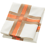 overlap peach/tan dishtowel