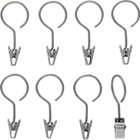 set of eight hanging clips.