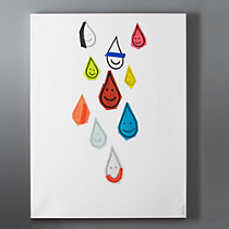 happy drops print