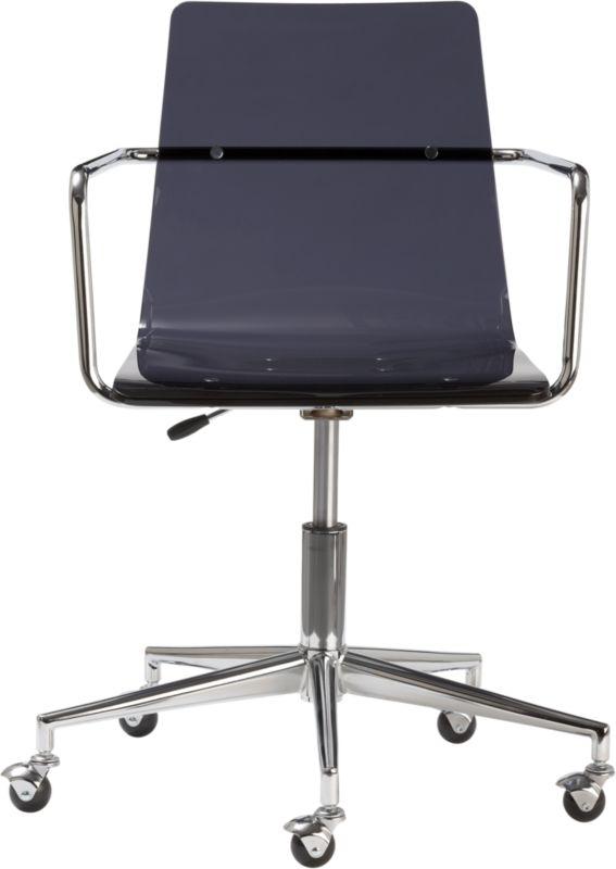 haze acrylic office chair