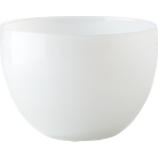 haze white glass serving bowl