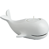 hermie white candle holder