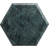 """hex 12""""x10.5"""" green marble board"""