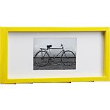 rectangular yellow hi-gloss 4x6 picture frame