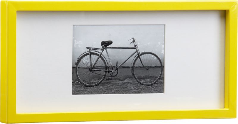 rectangular yellow hi-gloss 4x6 frame