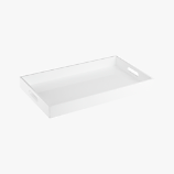 rectangular hi-gloss white tray