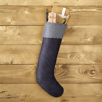 hickory stripe and denim stocking