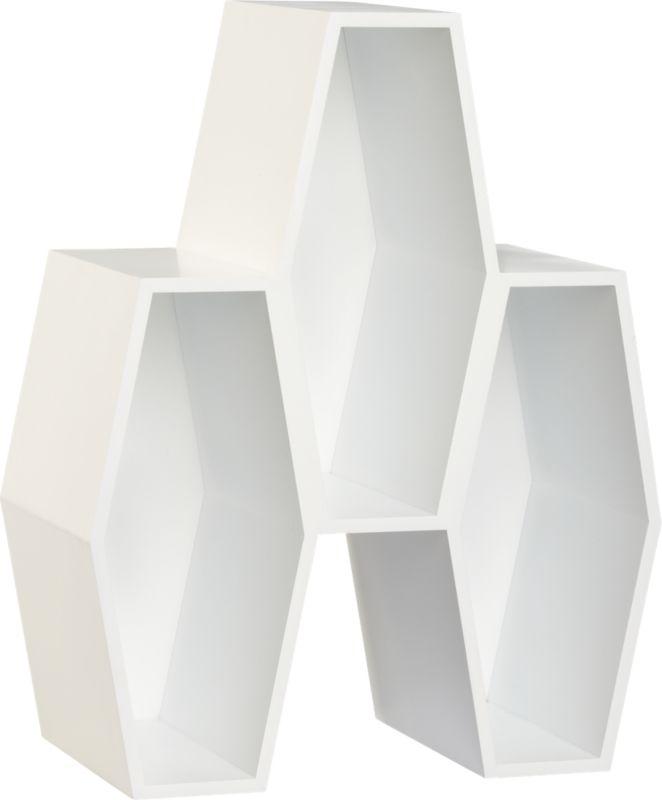 hive white storage unit