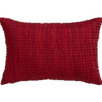 """hombre burgundy 18""""x12"""" pillow"""