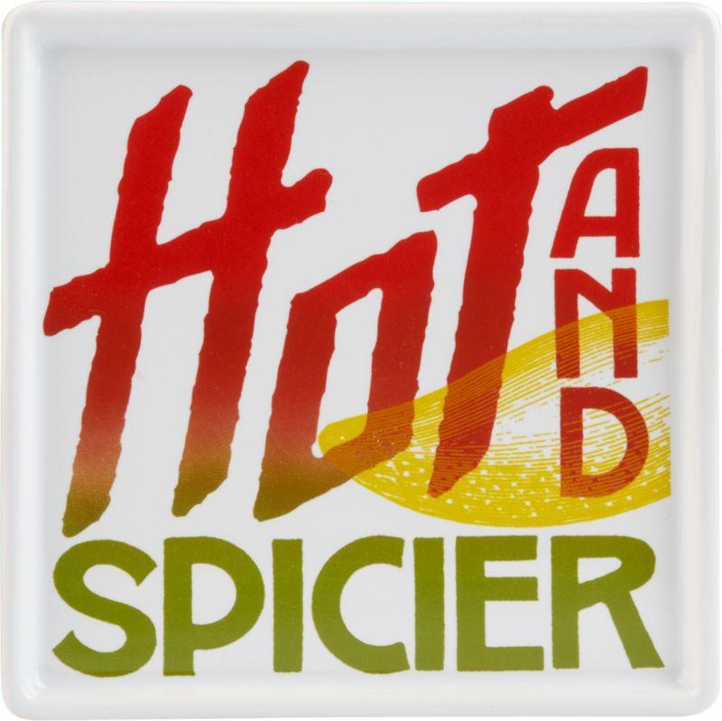 hot and spicier menu plate