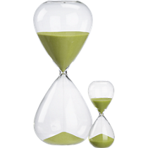 hour glass and 15 minute hour glass