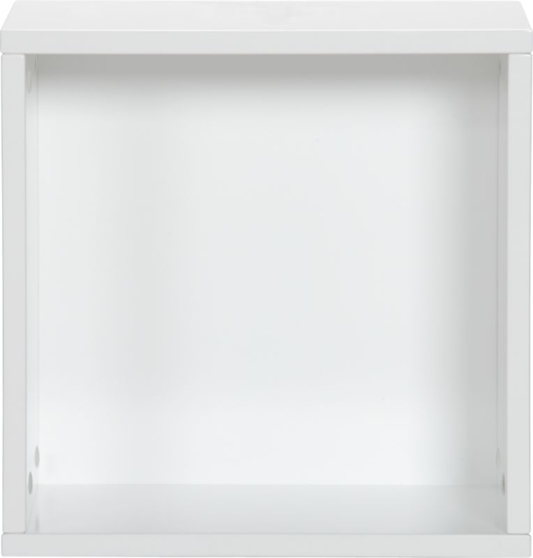 "hyde white 16"" square open wall mounted cabinet"