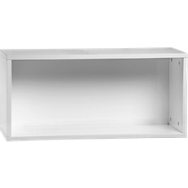 "hyde white 30"" open wall mounted cabinet"