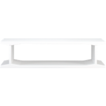 I-beam white coffee table