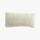"icelandic sheepskin 23""x11"" pillow with down-alternative insert"
