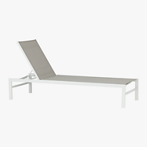 idle grey sun lounger