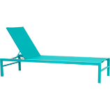 idle turquoise outdoor chaise lounge