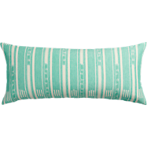 "ikat aqua 36""x16"" pillow"