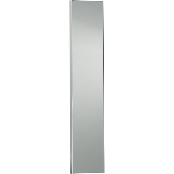 Infinity 10 5 x54 narrow wall mirror cb2 for Narrow mirror