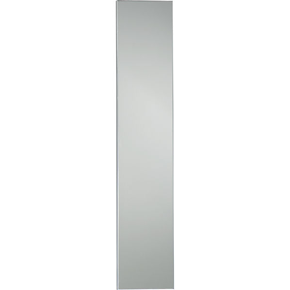 Infinity 10 5 x54 narrow wall mirror cb2 for Long skinny wall mirrors
