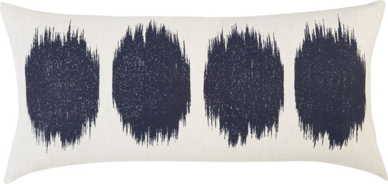"ink blot 23""x11"" pillow"