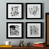 set of 4 inkscapes framed prints