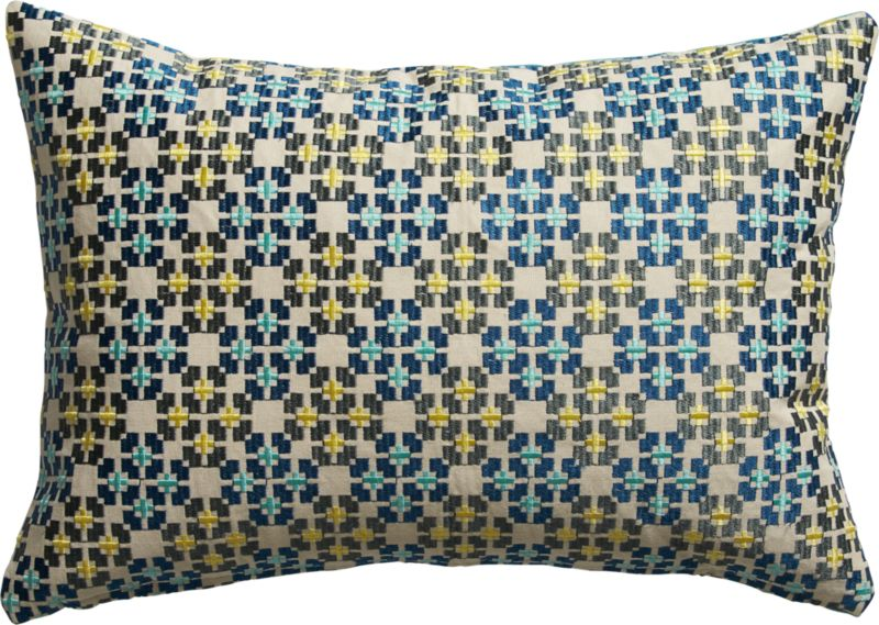 "inlay embroidered 18""x12"" pillow"
