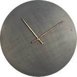 "iron circle 30"" wall clock"
