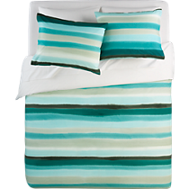 jaipur handpainted stripe bed linens