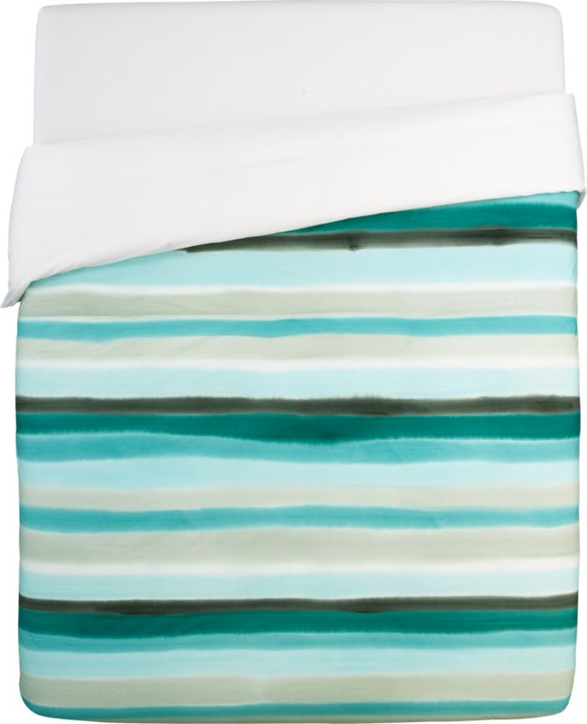 jaipur handpainted stripe king duvet