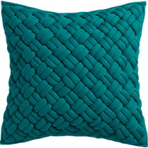 "jersey interknit green 20"" pillow"