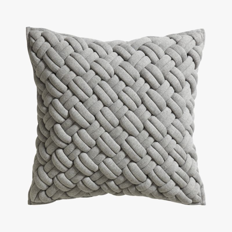 "jersey interknit 20"" pillow with feather insert"