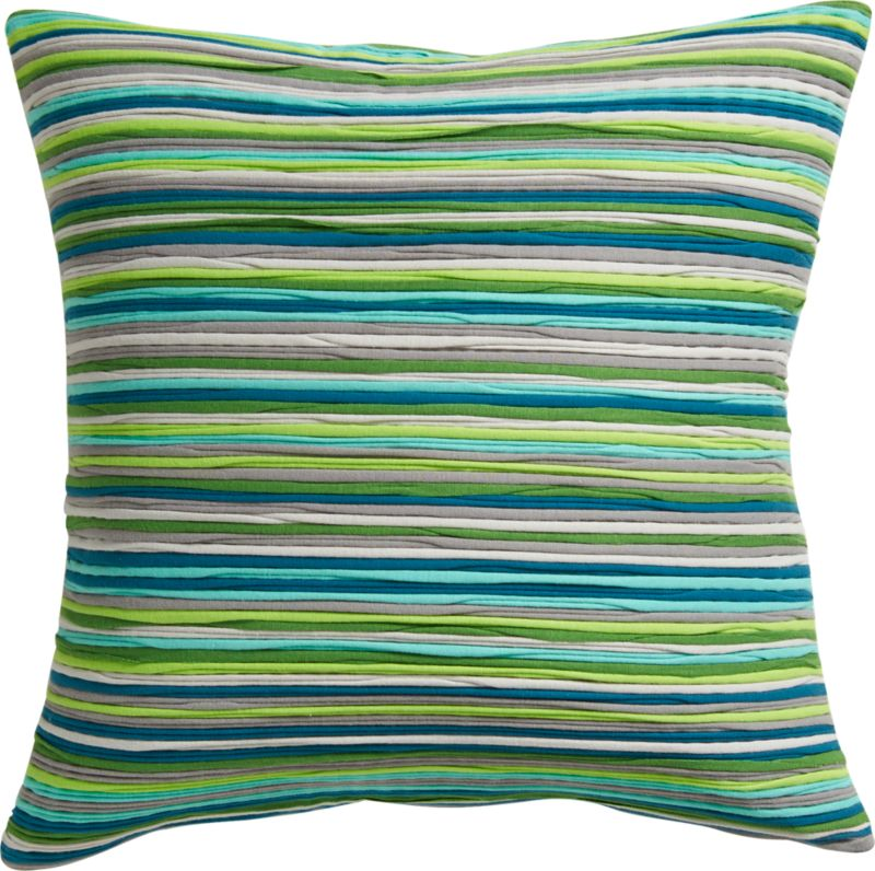"jersey stripes 18"" pillow with down-alternative insert"