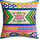"kilim embroidery 16"" pillow with feather insert"