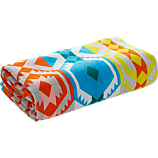 kilim stripe beach towel