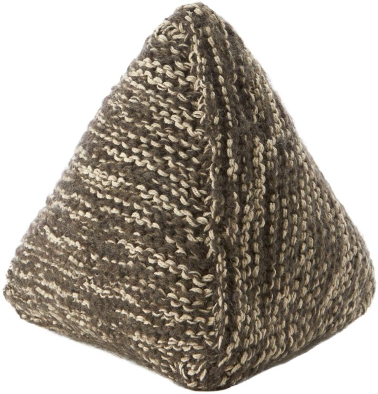 knitted triangle